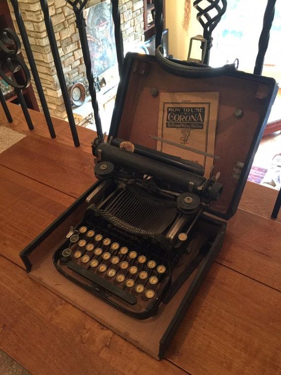 antique 1912 corona 3 machine crire. Black Bedroom Furniture Sets. Home Design Ideas