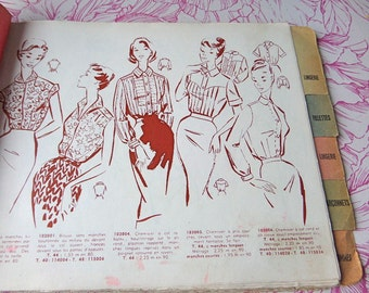 French  1950s Sales Representative Sewing Pattern  General Catalog