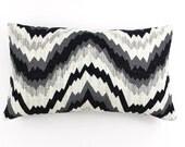 ON SALE Kelly Wearstler Flair Noir Lumbar Pillows (Both Sides) 14 X 24