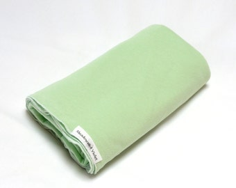 Large Cotton Jersey Knit Baby Swaddle/Receiving Blanket - Girl/Boy - Light Green