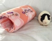 Cozy tunnel for guinea pig,rabbit, ferret, pet hideout, pink cats,  pigaloo, pet sleeping bag. cage accessories, small animal toy, hideout