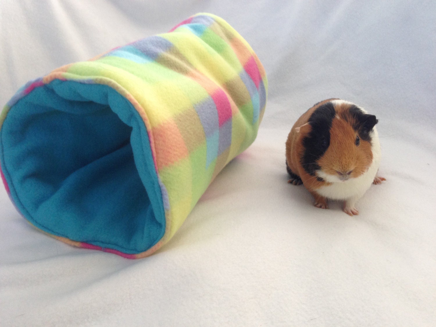 Guinea pig bed guinea pig tunnel guinea pig by createdbylaurab for How to make a guinea pig bed