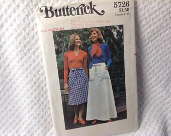 Vintage Butterick pattern 5726, wrap skirt