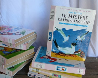 Seaside Adventure Tale, Children's Book, adventure mystery, Kid's club, 60s back to school, island seagulls, cartoon book, french fiction