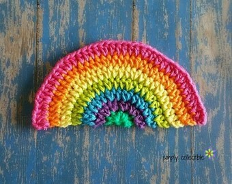 Crochet Pattern - Rainbow Daze Washcloth Dishcloth crochet pattern - pdf