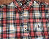 Plaid polo Ralph Lauren long sleeve button up