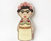 Frida Kahlo sticker, little frida waterproof sticker