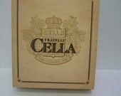 Craft Supplies, Wood Wine Box, Large Wine Box for Crafts, Cella Three Bottle Wood Wine Box To Decorate,  Decoupage Crafts,