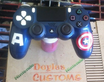 Captain america themed ps4 controller made to order