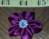 Lot of 100  5-petal Satin Flowers mix or match - Floral decor, sewing projects, weddings, birthdays, DIY, Hair Accessories
