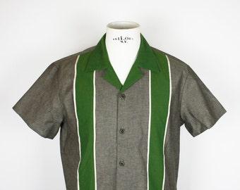 Double Panel Pinstripe Shirt *Ready to Ship* Chambrey