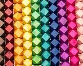 200 Geometric Wood Beads 15mm  and 200 20mm Geometric Wood Beads