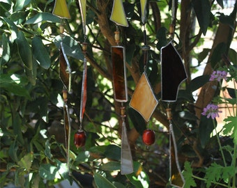 Stained Glass - Wind Chime - Decorative Wind Chime, Unique Wind Chime, Melodious Wind Chime