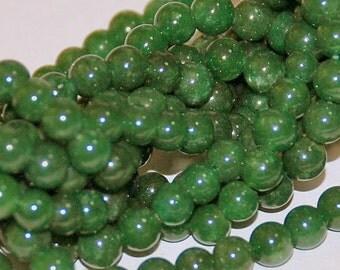 Half Strand 4mm Dark Green Agate - 53 beads