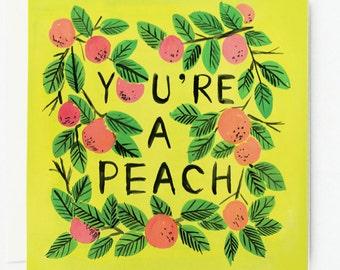 You're a Peach Card 1pc