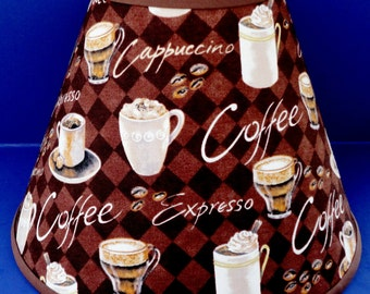 Coffee Cups Expresso Lamp Shade Cappuccino Lampshade