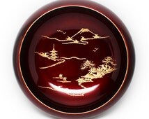 Lovely Vintage Japanese Red Lacquer Bowl