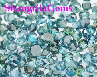 1ct 1.5mm Blue Diamonds brilliant cut round 36 to 38 diamonds approx Ocean blue