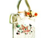 Singapore Childhood Dragon Playground cotton canvas tote bag