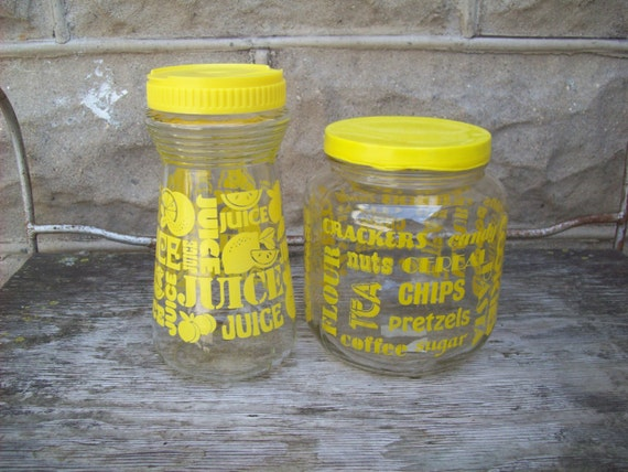 yellow kitchen storage jars vintage yellow kitchen glass storage jars with lids 1694