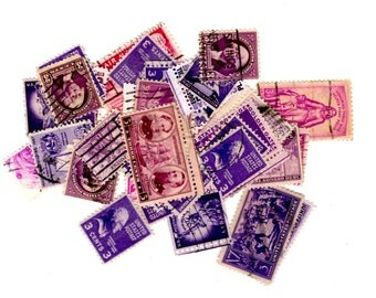 40 Purple United States Postage Stamps