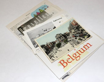 Belgium - International Travel Vintage Collage Kit