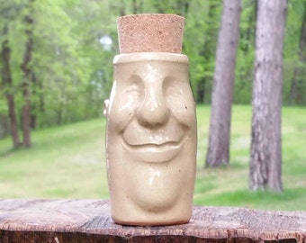 "Stash Jar, ""George"", Handmade Container, Jar"