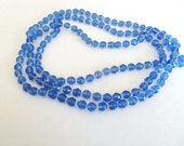 Vintage Blue Crystal Sautoir Necklace 51 inches Long