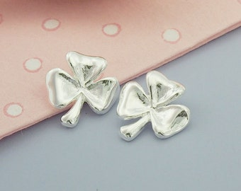 2 of 925 Sterling Silver  Leaf  Clover Charms 11 mm. :tm0062
