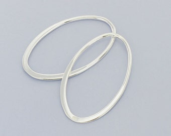 4 of 925 Sterling Silver Oval Links, Connectors 15x24 mm. :tk0010