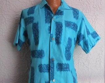 50's Vintage Men's Diamondhead Hawaiian Shirt med/lg