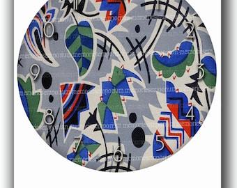 Deco Clock Face Retro 1950s Kitchen Clockface DIY Digital Paper Clipart Printable Download 50s Kitchen Home Decor 664