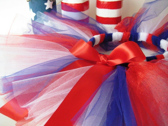 Red White and Blue Tutu - Patriotic- Girls, Toddlers, Infants Photo Prop or Just for Fun
