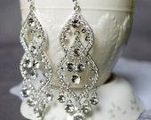 Bridal Earring Wedding Earring Rhinestone Chandelier Earrings Crystal Chandelier Earrings Bridal Wedding Jewelry Set ER056LX