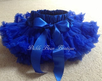 Royal Blue Pettiskirt - Ready To Ship - 1st Birthday Tutu - Petti Skirt Tutu - Baby Girl 1st Birthday Outfit - Girls First Birthday Outfits
