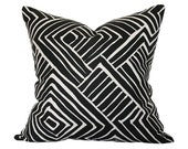Melinda Black Pillow Cover (Single-Sided) - Made-to-Order