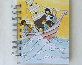 Musicians at Sea Found Paper Book