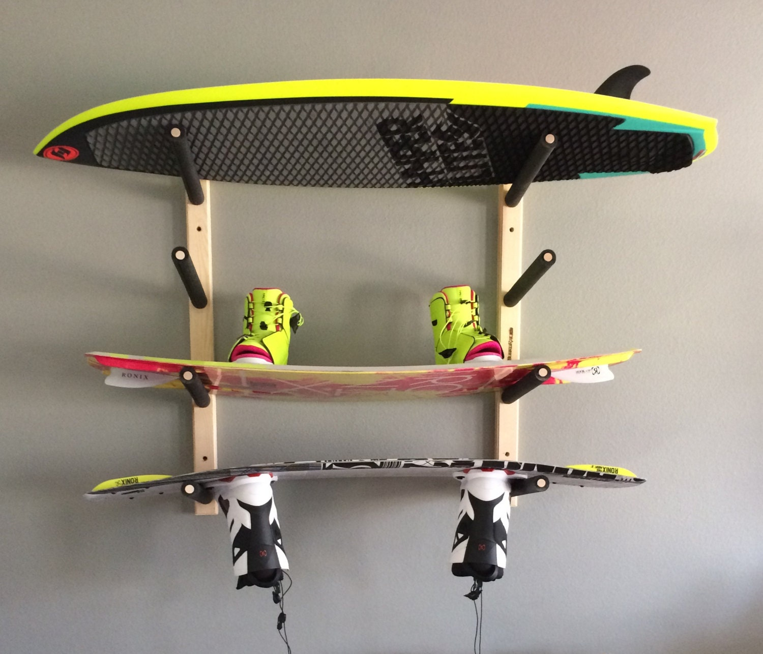 Wakeboard Wall Rack Mount Holds 4 Boards