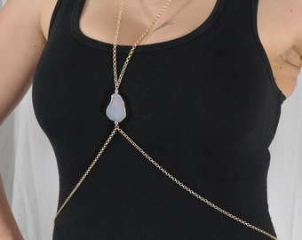 Gorgeous Gray Agate Body Chain