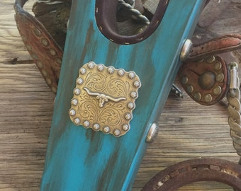Rustic Turquoise BootJack with Concho