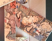 Japanese Sumo Rice Paper Wallet and Box unused Vintage