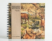 Sketchbook Doodle Notebook - Jungle Moose Fabric Wrapped (Blank Sheets 120gsm Quality Paper)
