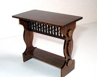 Medieval Sideboard Table, Dollhouse Miniature, 1/12 Scale, Hand Made