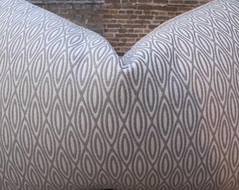 Designer Pillow Cover - Lumbar, 16 x 16, 18 x18, 20 x 20 - Lana Gray