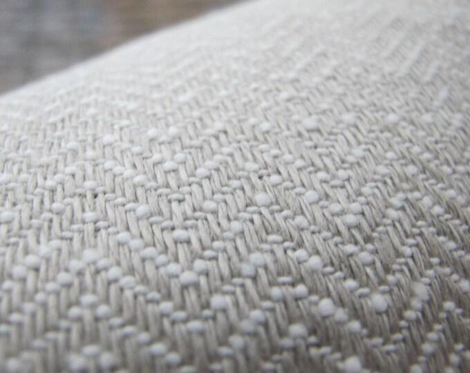 Designer Pillow Cover Lumbar, 16  x 16, 18 x 18, 20 x 20, 22 x 22 - Herringbone Small Scale Zig Zag Greige