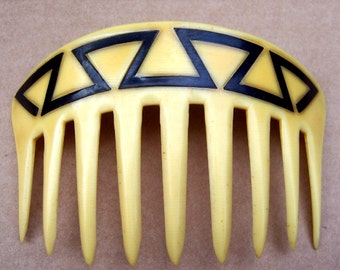 Art Deco Hair Comb French Ivory Geometric Design Hair Accessory Decorative Comb Hair Jewelry Headdress Headpiece
