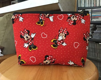 Minnie Mouse Large zipper Cosmetic/accessory Pouch