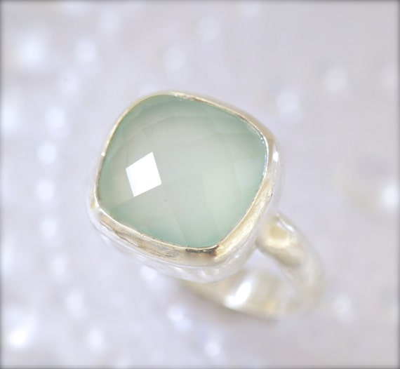 Chalcedony Ring in Sterling