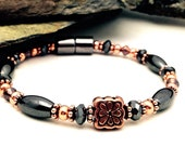 Magnetic Bracelet/Anklet Therapy Pure Copper & Black Hematite Practical Super High Power Wellness Health FREE gift card