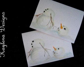 Snowman  Blank Card